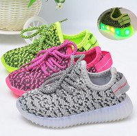 Little Kids Casual Fashion Sneakers LED Light Breathable Athletic Sports Shoes