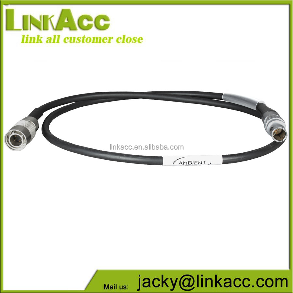 Linkjc 2-pin Lemos Straight to 4 Pin Hirose Straight Power Supply Cable for Arri Alexa