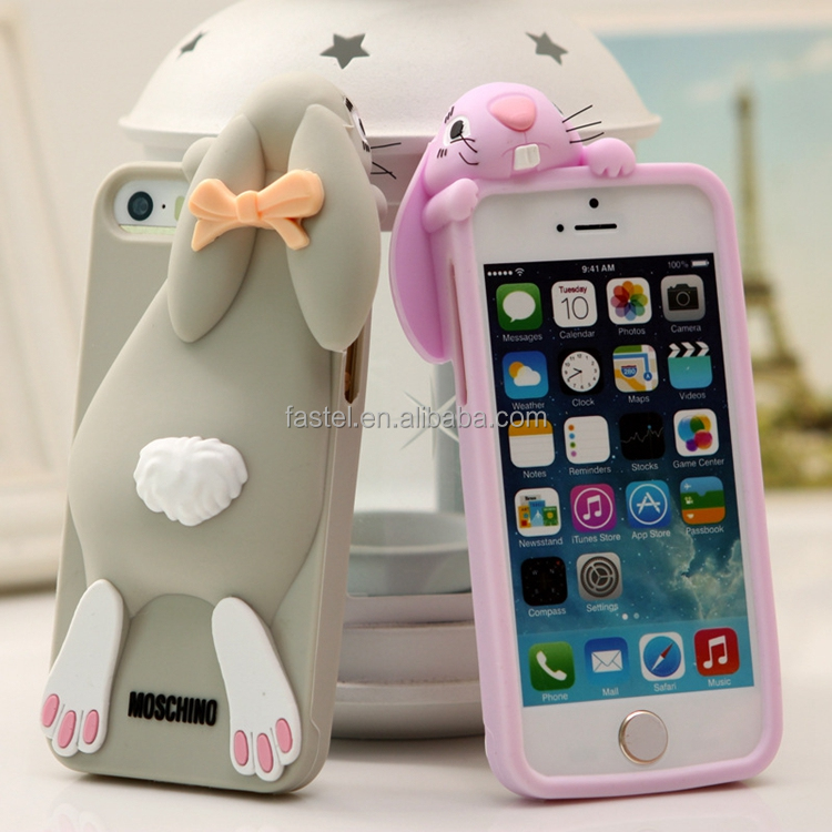 Popular Cover Silicone Buck Teeth Rabbit Case for iPhone 6