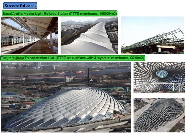 Etfe Foil Membrane Sheet Architecture Roof Facade