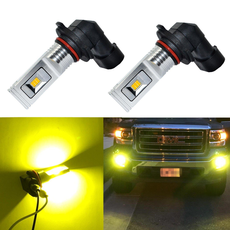 2x Quality H10 9145 9140 100W 2323 LED 4300K Yellow Projector Car Fog Light Bulb