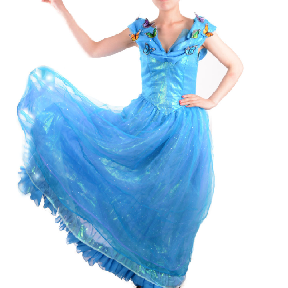 Cinderella 2015 Costumes Girls Dresses Shoes Jewelry: Adult Cinderella Costumes Princess Costume 2015 Movies