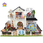With light and simulation furniture DIY miniature doll house cute house design