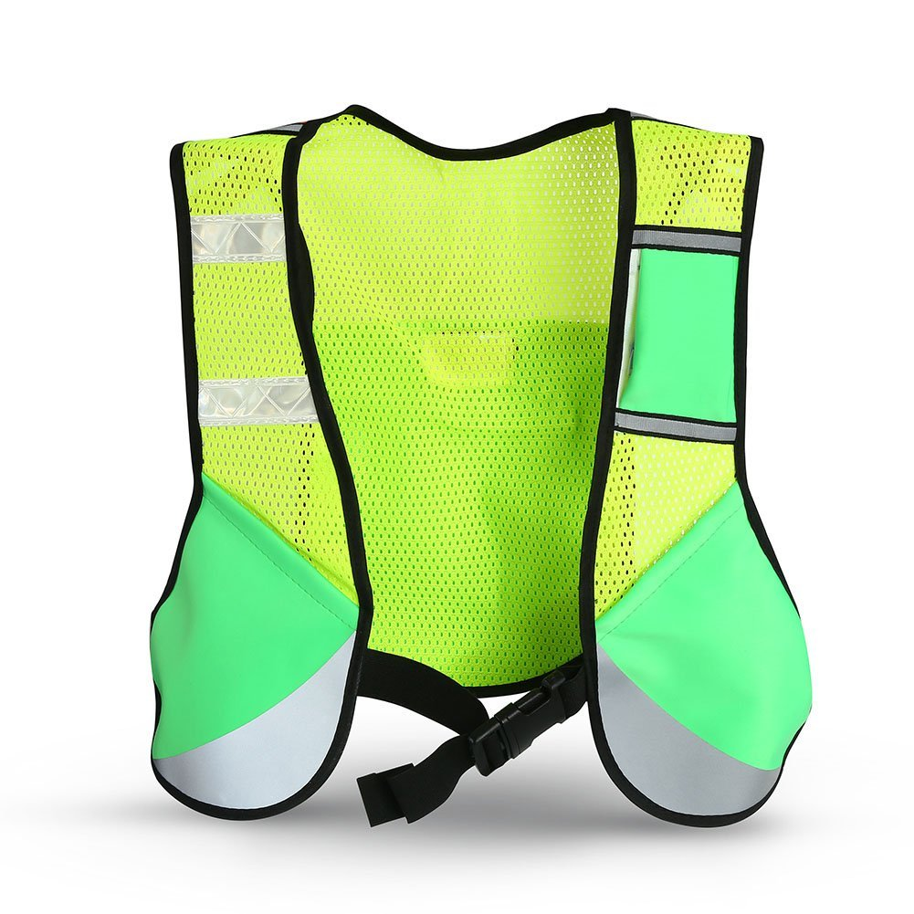 Alomejor Reflective Sporting Vest, Multi-Function Night High Visibility Sporting Reflective Cycling Running Vest Hiking Jacket