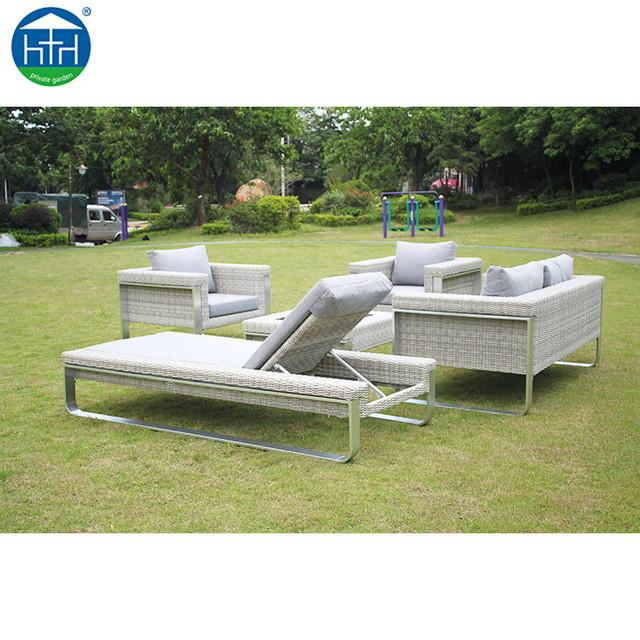 dw sf029 rattan garden furniture outdoor lounge sofa l shaped sofa - Rattan Garden Furniture L Shape