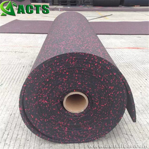 5mm Thickness Popular Noise Reduction Gym Rubber Roll Mat / Commercial Rubber Floor Roll