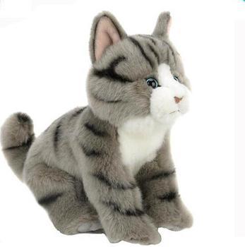 Creative 3d Grey Cat Stuffed Toy Plush Make Sound Cat Buy Make