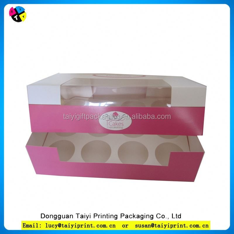 cardboard cupcake knives box forks paperboard packaging box