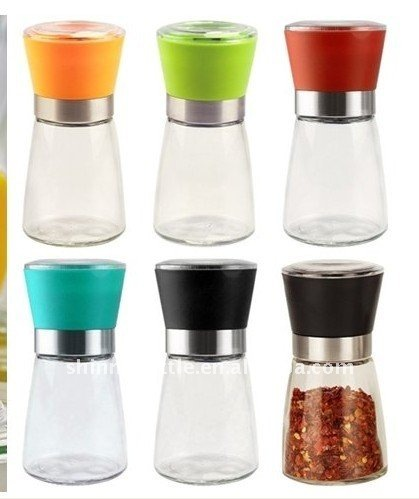 Salt & Pepper Grinder ,Glass Jar and Ceramic Mechanism
