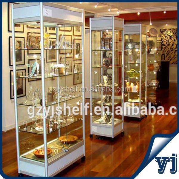 2015 display de cristal gabinete en tienda/esquina de cristal ...