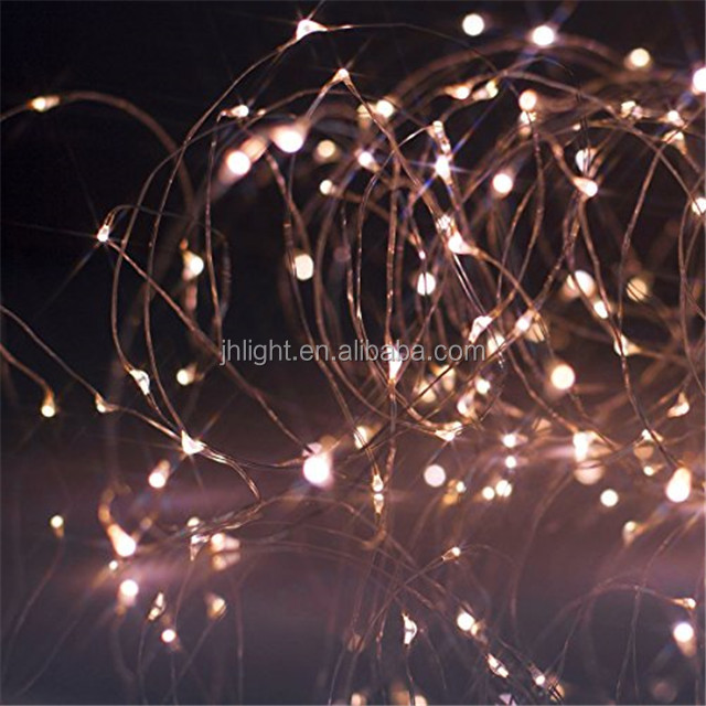 Drew drop Christmas Fairy Lights 100 miniture warm white LEDs/hot sell twinkle lighting copper wire string