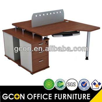 2 Person Office Partition Workstation / Home Office Computer Desk  Workstaton GF007 2B