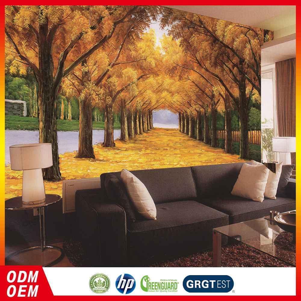 Wallpaper House Beautiful: مخصصة 3d الذهبي غابة خلفيات تصميم ديكور المنزل ل ورق
