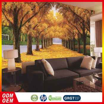 Custom 3d Golden Forest Wallpaper Design Home Decor For Sofa Back ...
