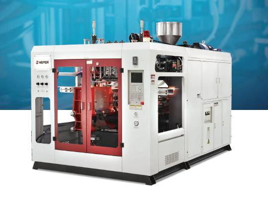 plastic extrusion blow molding machine