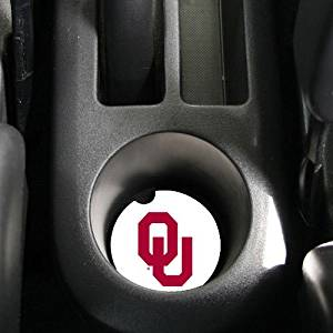 NCAA Oklahoma Sooners Absorbent Car Coaster - Pack Of 2