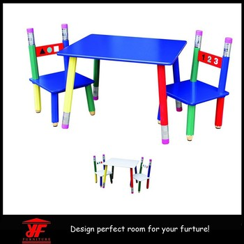 Excellent Quality Folding Kids Pencil Table And Chairs