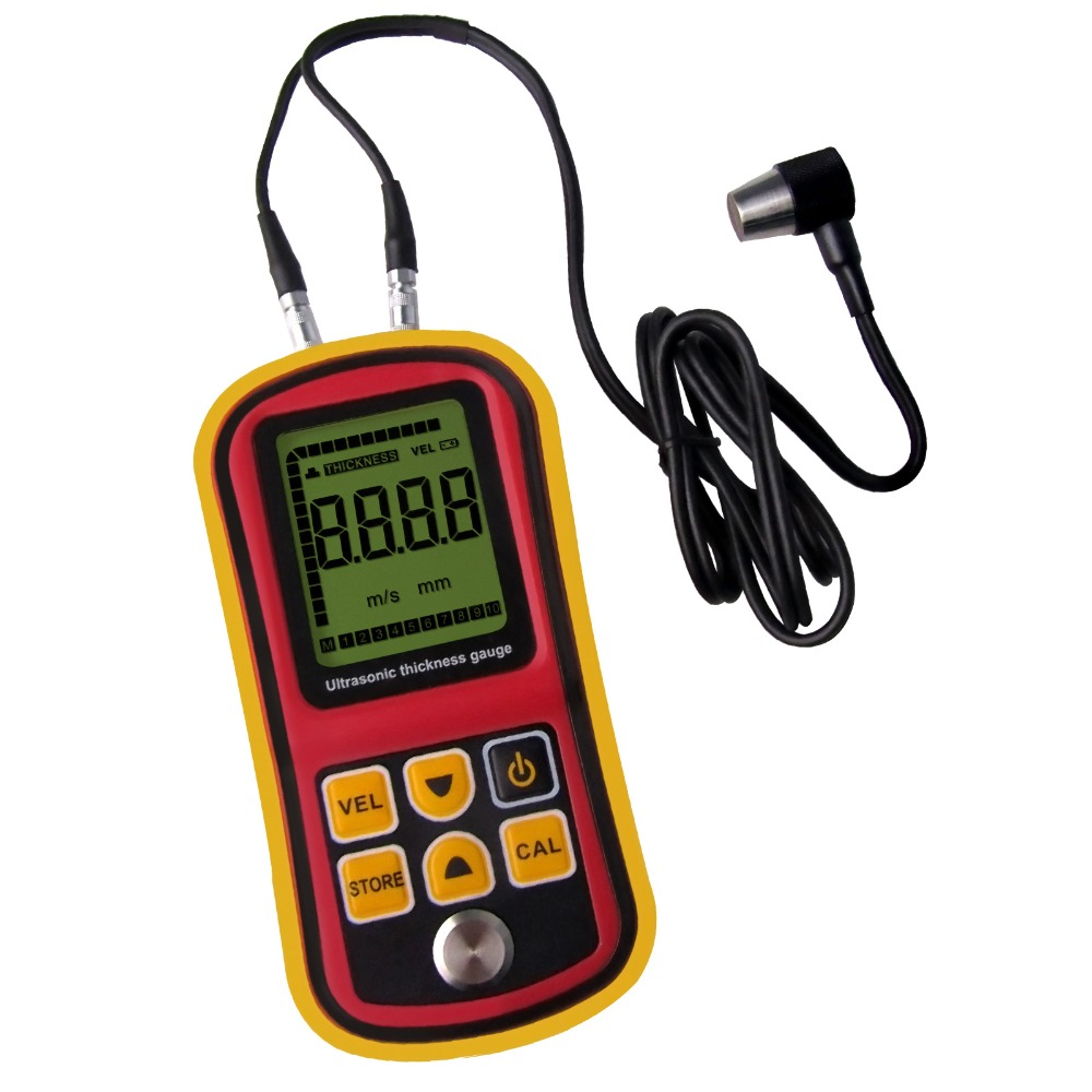 Portable Ultrasonic <strong>Thickness</strong> Meter Tester Gauge Metal and Non-Metal 1000~9999m/s Velocity Measurement