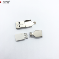 USB 2.0 white housing male A type connector