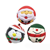Factory Christmas Santa snowman soft PU anti stress foam squeeze ball toy