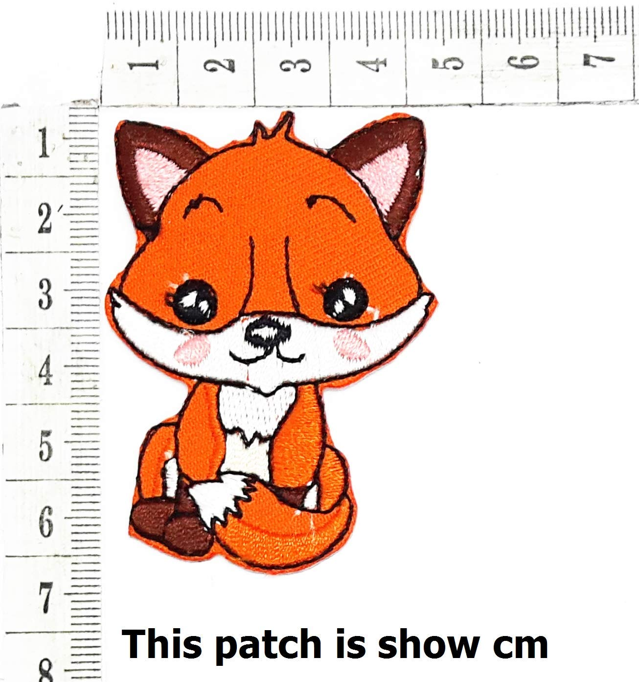 b1bdd36b2 Get Quotations · Cute Wonderful Fox Arctic Fox Dog Animals Cartoon Chidren  Kids Embroidren Iron Patch/Logo Sew
