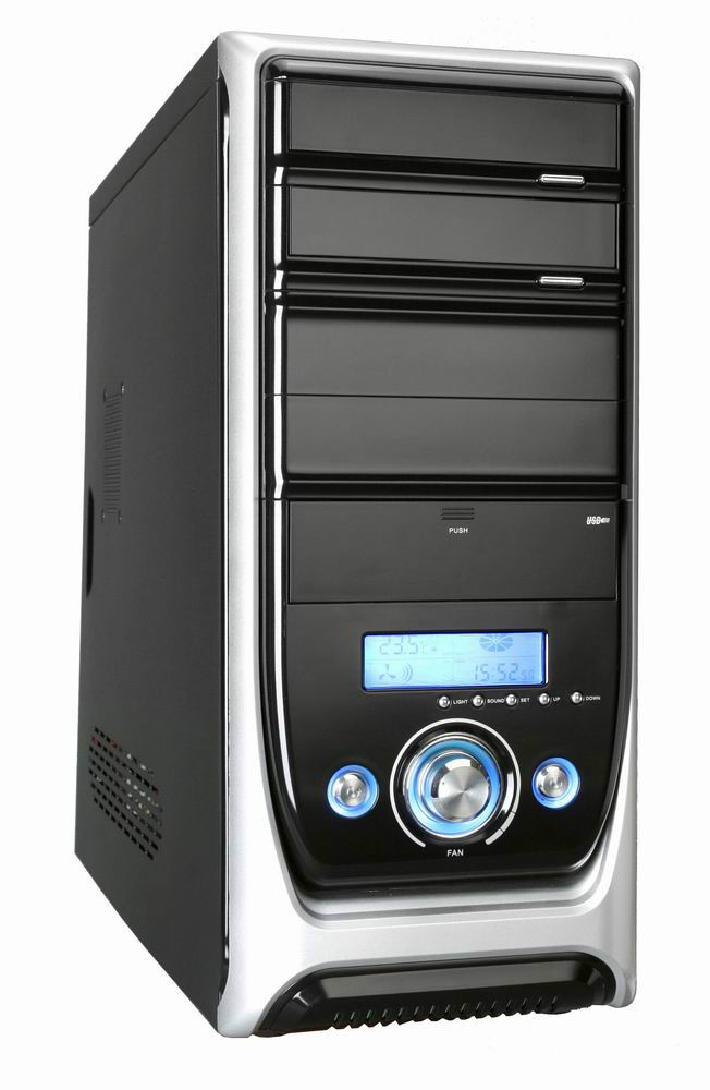PC case with front LCD display,SECC 0.6mm