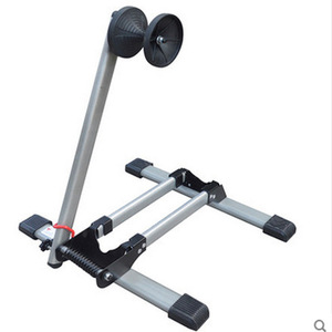 Mountain bicycle display wheel rack parking stand