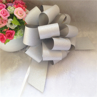 Manufacture large christmas decorative bows, pp pull string bow
