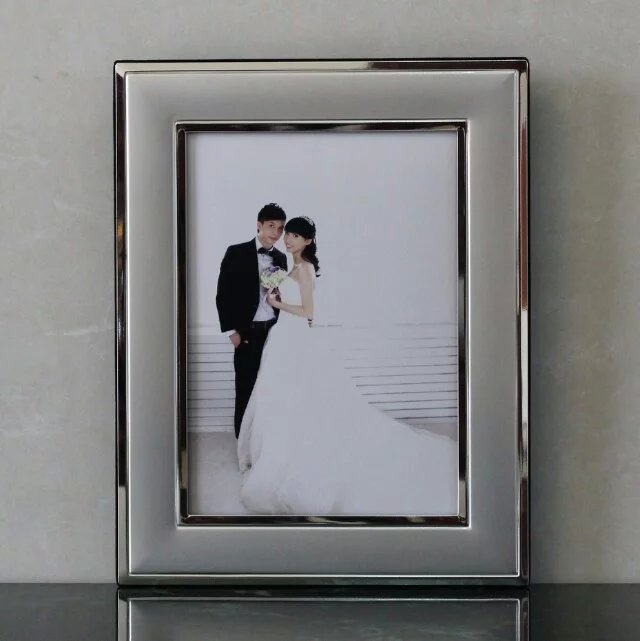 Hot sale Wholesale Aluminum Picture Frame , Metal Silver Plated Photo Frame , Love Photo Frame