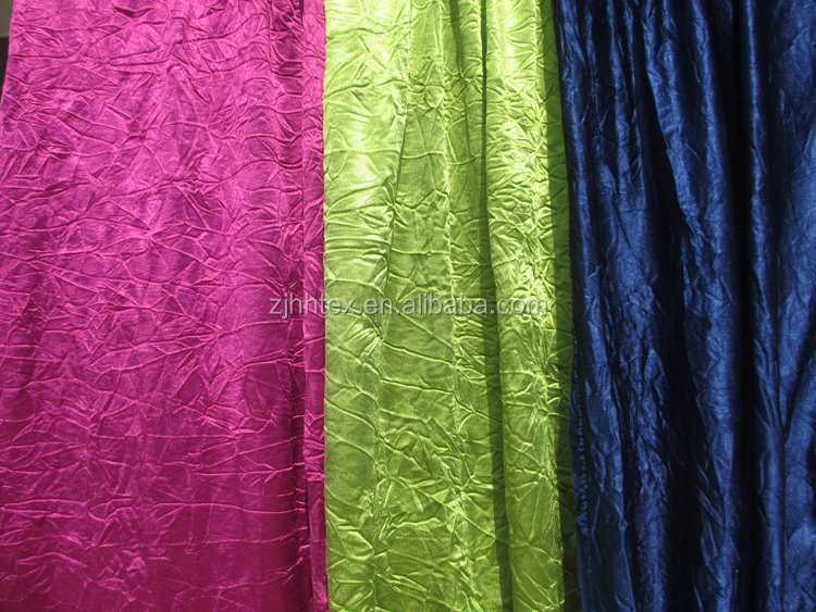 Africa sudan market 100 polyester knit crushed curtain fabric from china factory curtain fabric