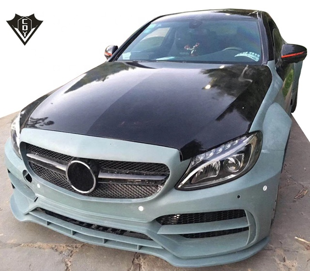 Nuovo kit del corpo! Classe C w205 C63 Coupe wide body kit PD stile wide body kit per mercedes w205 c63 coupé
