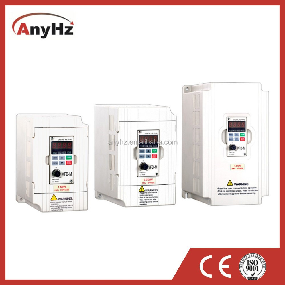 Mini series low power frequency inverter ac drive in automation control system