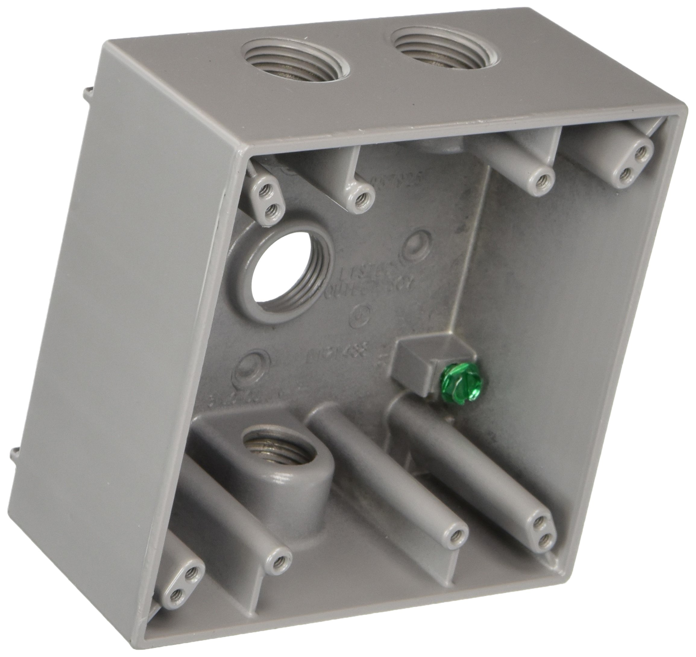 Hubbell-Bell 5361-1 5-1//2-Inch Outlets 4-Inch Round Weatherproof Splice Box