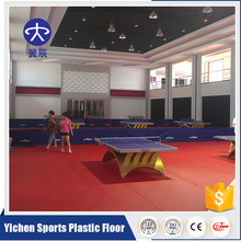 High Quality PVC Sports Plastic Flooring Used Table Tennis Floor Covering