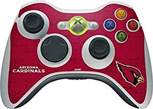 NFL Arizona Cardinals Xbox 360 Wireless Controller Skin - Arizona Cardinals Distressed Vinyl Decal Skin For Your Xbox 360 Wireless Controller