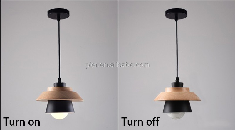 Lampadario Bianco Legno : E27 bianco soggiorno in legno camera decorativo moderno lampadario