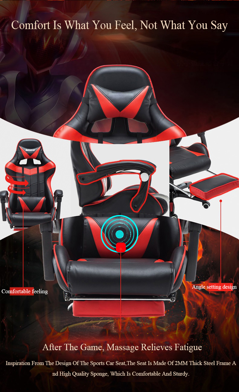 2019 new Hot Selling Gaming Racing Chair Computer Ergonomic Office Chair High quality high back Cheap high back gaming chair