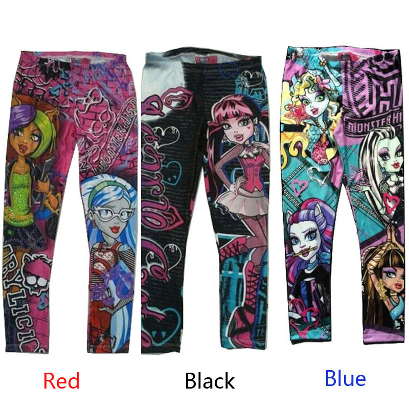 Monster High Printed Childs Kids Girls Clothes Pants Childs Leggings Trousers