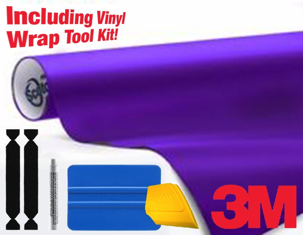 3M 1080 Matte Royal Purple Air-Release Vinyl Wrap Roll Including Toolkit (1ft x 5ft)
