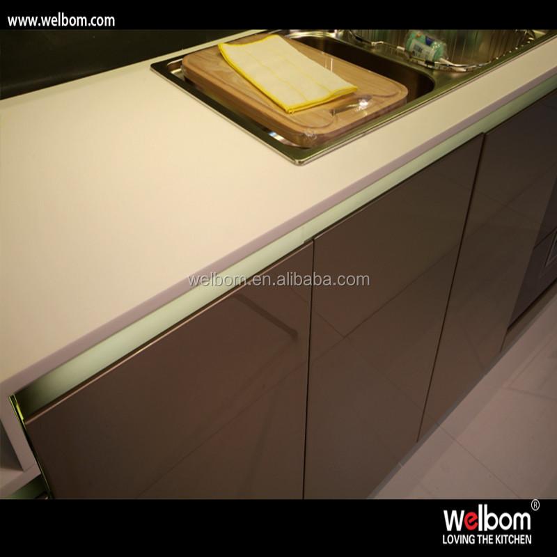 Moderno y simple pintura de alto brillo acabado gabinete de cocina ...