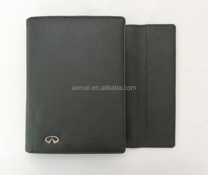 High quality Car document folder customize logo PU leather file folder for car business