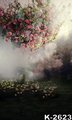 Oil Painted Dream Fantasy Forest Backgrounds Shoot Custom 5x7ft Flowers Photo Backdrops Couples Wedding Digital Background