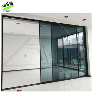 China suppliers high quality professional huge project narrow frame double tempered glazed aluminium sliding door
