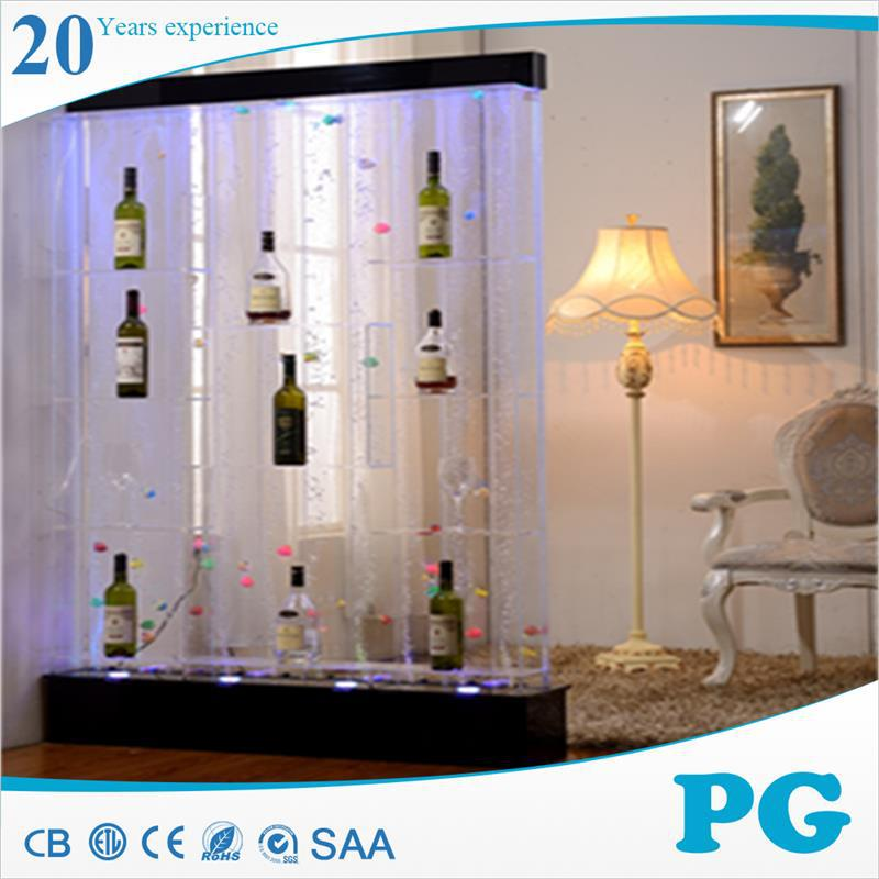 PG hot sale stainless steel glass waterfall