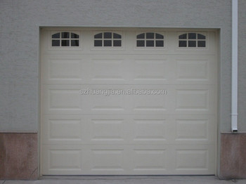 Cheap custom size lightweight garage doors inserted with windows that can open buy cheap - Custom size garage doors ...