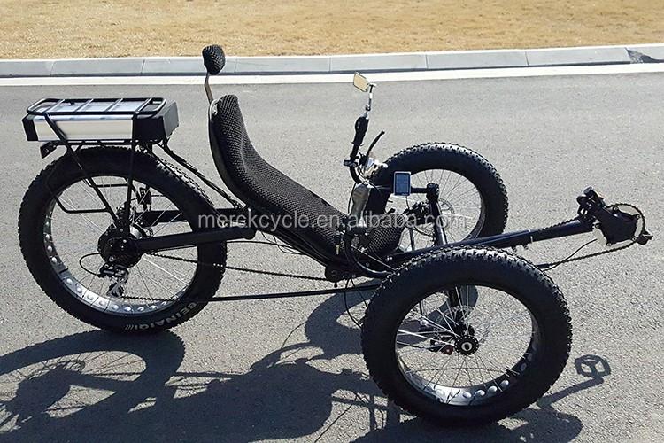 48v16an Lithium Battery Three Wheel Recumbent Fat Tire Beach