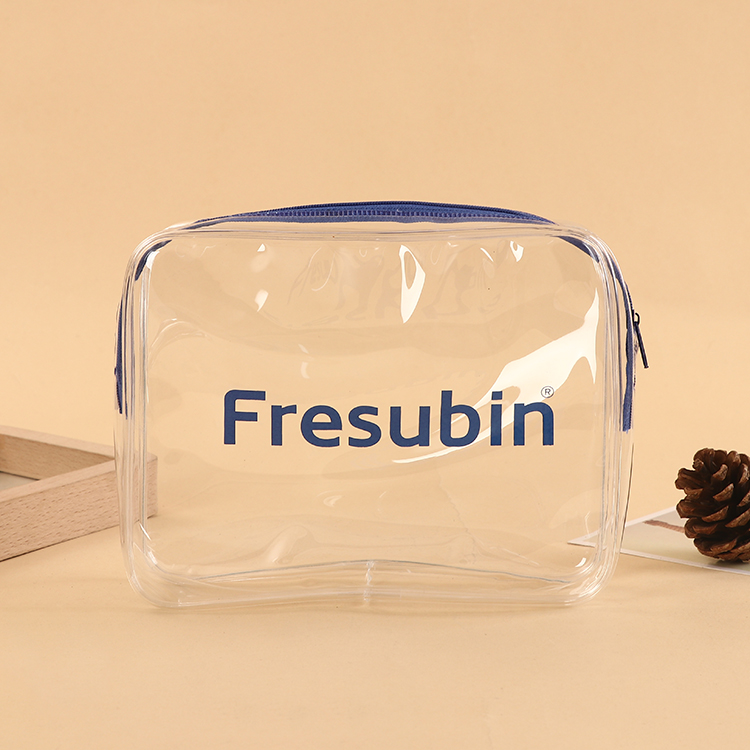 Customised Promotional transparent clear Vinyl zipper lock mini PVC cosmetic bags