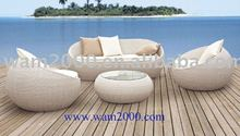 patio garden aluminum pe rattan sofa set for outdoor