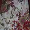 2015 Expensive heavy home room polyester flower curtain fabric with jacquard pattern