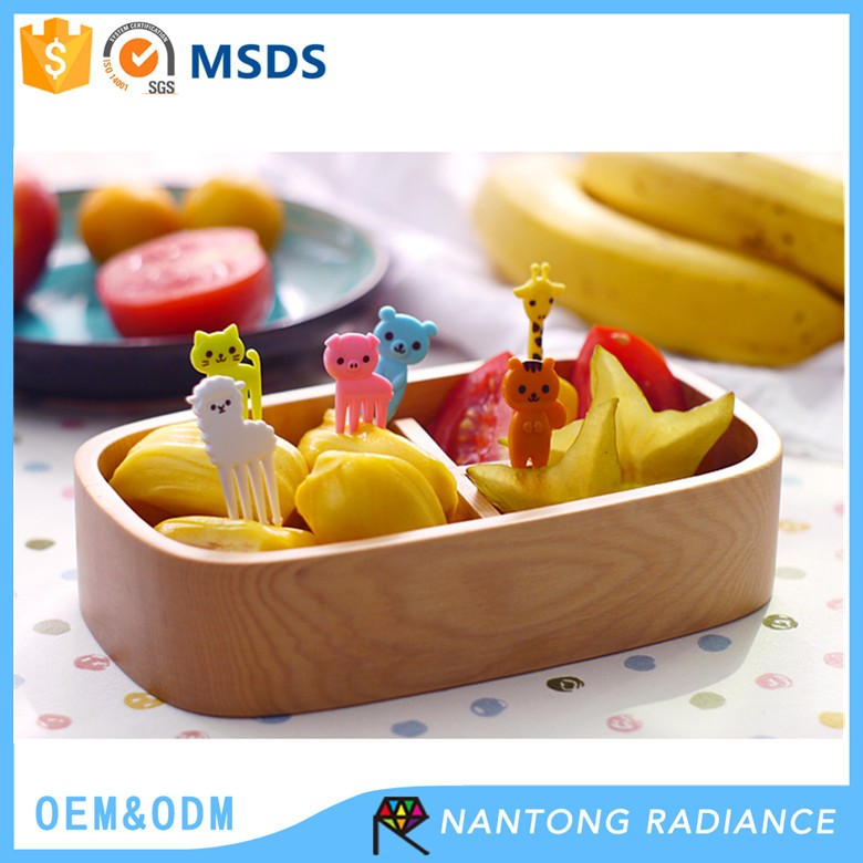 35-65MM Animal Shaped Plastic Fruit Fork Party Dessert Pick